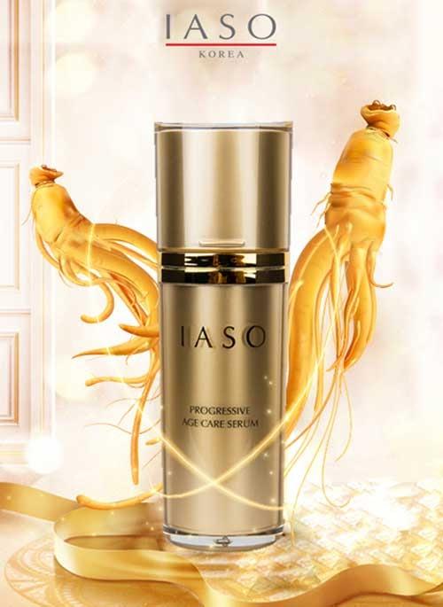 IASO Progressive Age Care Serum - tinh chất vàng chống lão hóa mang đến nét đẹp rạng ngời